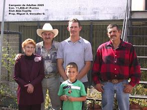 Photo: Campeón de adultas 2005.