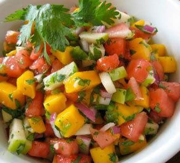 Tropical Watermelon Cilantro Salsa Recipe
