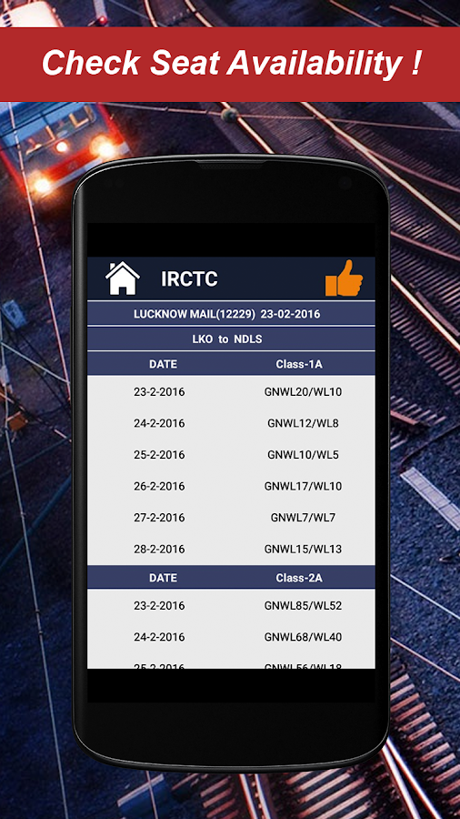 Railway PNR Check- screenshot