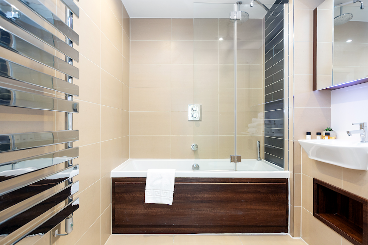 Bathroom at Altitude Point Serviced Apartments, Aldgate