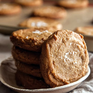 Five-Ingredient Peanut Butter Sea Salt Cookies