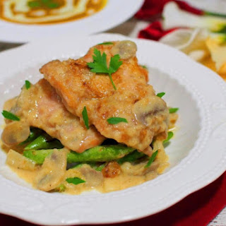 Chicken in Creamy Mushroom Sauce.