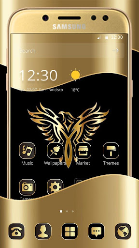Gold Luxury Eagle Theme 1.1.3 screenshots {n} 1