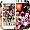 skull Street Graffiti theme icon