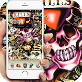 skull Street Graffiti theme