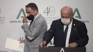 Bendodo y Aguirre han detallado el plan de vacunación en Andalucía.