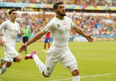 L'Algérie enfile quatre buts à la Corée du Sud