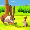 Rabbit Family Simulator: Poly Art Jungle icon