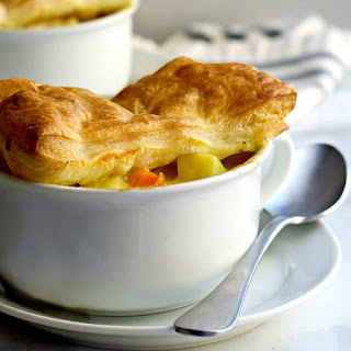 Chicken Pot Pie with Puff Pastry.