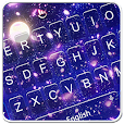 Romantic Moonlight Cherry Rain Keyboard Theme