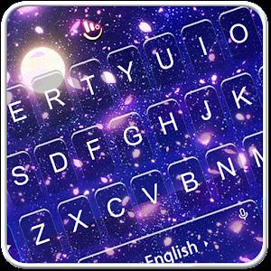 Romantic Moonlight Cherry Rain Keyboard Theme for PC