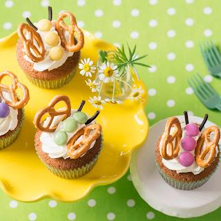 Schmetterlings-Cupcakes mit Limetten-Frosting