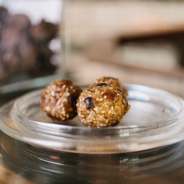 These homemade gluten-free bliss balls are a perfect snack treat to fuel a day walking or biking in Monterey.