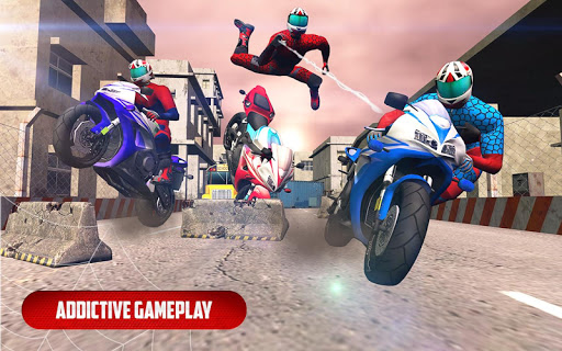 Spider Stunt Rider  Superhero Spider Highway Rider 1.0.2 screenshots 7