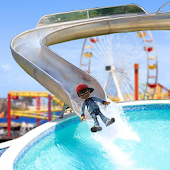 Kids WaterSlide In ThemePark