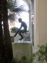 Photo: It.s5ITL132-141008Anacapri, sculpture, Hermes assis de profil, villa St Michel IMG_5702