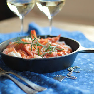 Skillet Shrimp with Creamy Tomato Sauce