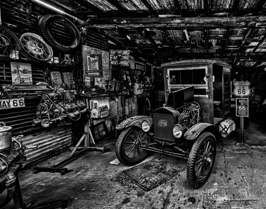 Route 66 Classic Garage by Berl Thomas - Transportation Automobiles ( d90, arizona, mike, nikon,  )