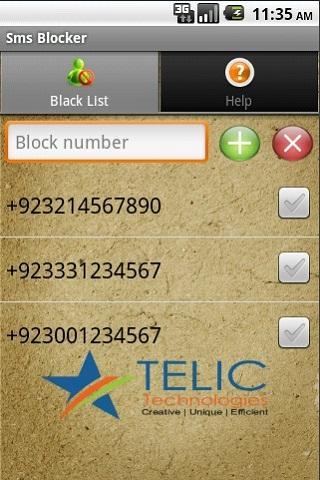 SMS Blocker screenshot 1