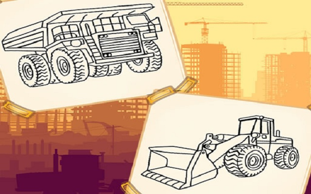 Construction Trucks Coloring