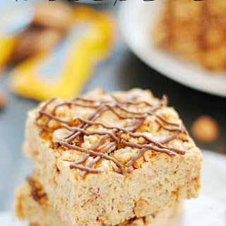 Butterscotch Butterfinger Rice Krispies Treats