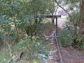 Photo: Kozioł oporowy kończący ocalały odcinek toru dawnej linii do Czarnowa {Toruń; 2013-09-20}