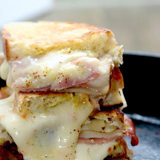 Habanero Jack Grilled Cheese with Pears & Prosciutto.