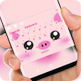 Cute Piggy Keyboard Pink Kawaii apk