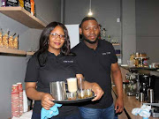 Owners of The Tosh coffee shop in Klerksdorp Katlego Matlala and Jason Mfusi had their business funded by the NDYA's Youth Micro Enterprise Fund.