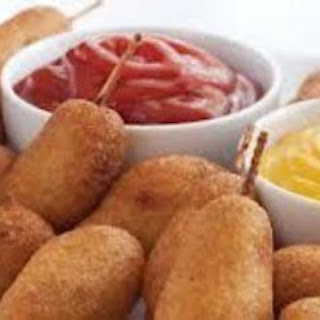 "Corn Dog ""Puppies"" (Appetizer)."