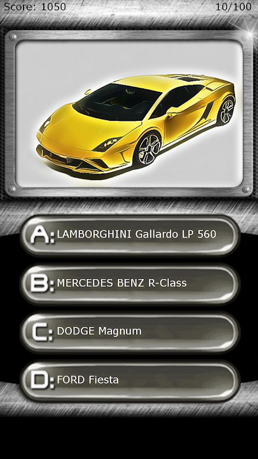 My Super Car Logo Quiz Test Android Apps On Google Play