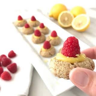 Raspberry Lemon Thumbprint Cookies.