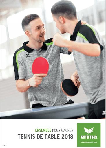 Textile - tenue de sport indoor - vêtement de sport - tennis de table