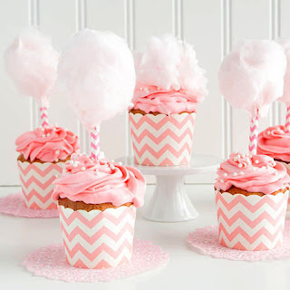 Pink Cotton Candy Cupcakes.