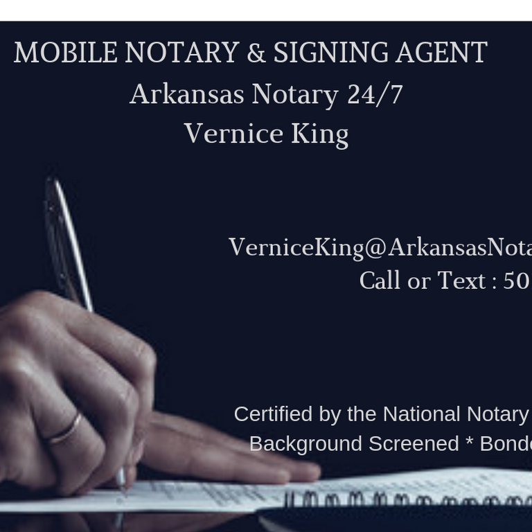 Loan Signing Agent In Conway Arkansas