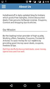 IndiaFreeStuff Deals Coupons- screenshot thumbnail