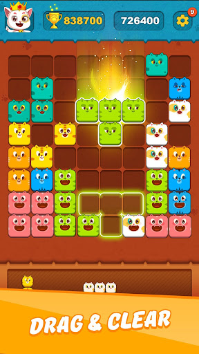 Block Crushu2122 - Cute Kitty Puzzle Game android2mod screenshots 1
