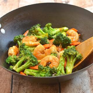 Shrimp Broccoli Stir Fry.