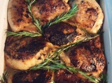 Braised Orange Rosemary Chicken Recipe