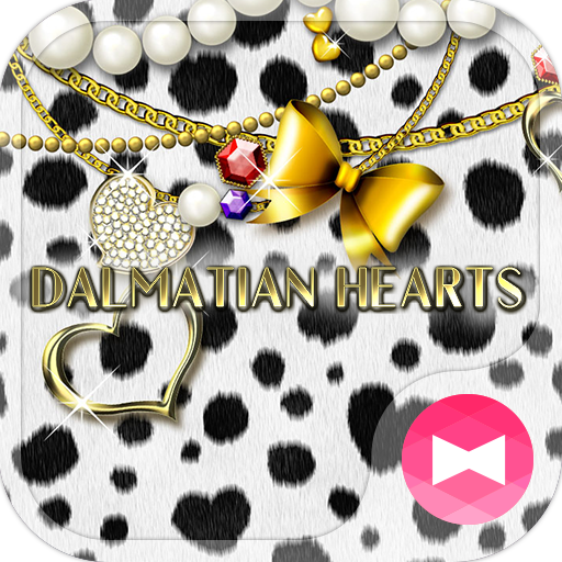 Cute Theme Dalmatian Hearts Icon
