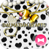 Cute Theme Dalmatian Hearts