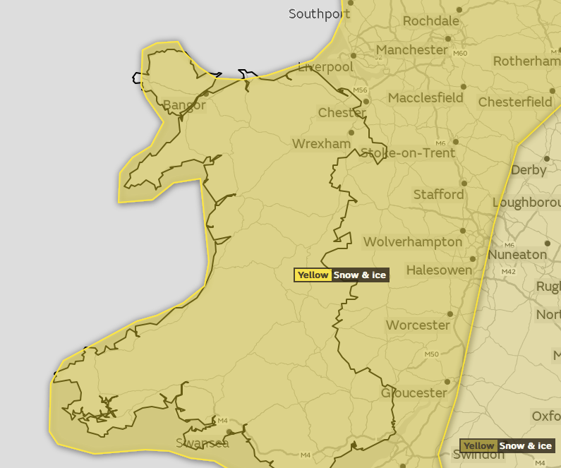 Wednesday's United Kingdom  snow risk