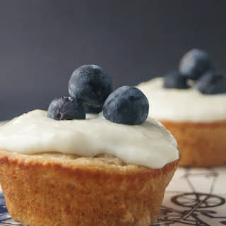 Vanilla Cupcakes with Lemon Cream Cheese Frosting For Two.