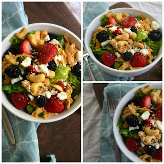 Berry Chicken Cashew Salad.