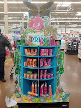 Photo: I head over to buy milk, and I pass buy a HUGE Glade display. It is very bright, colorful and makes me want to stop to check out the products.