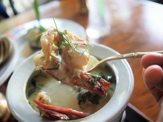 エビのグリーンカレー@ブルーエレファント プーケット タイ料理
