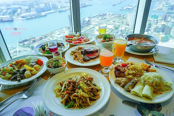 君鴻國際酒店-百匯栢麗廳自助餐一望無際的美麗海港
