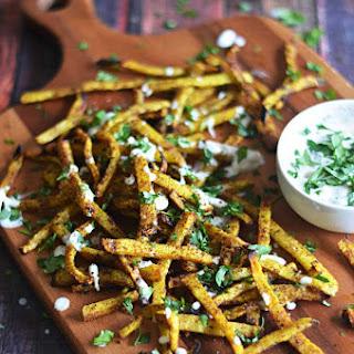 Spicy Baked Jicama Fries