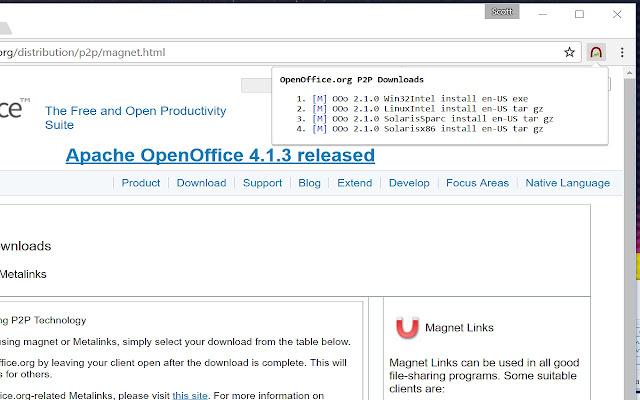 open magnet links on google chrome