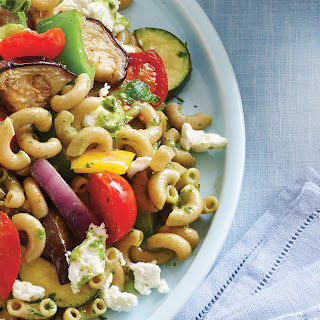 Roasted Vegetables & Goat Cheese Pasta Salad Recipe
